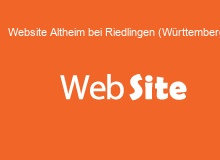 website Erstellung in AltheimbeiRiedlingen(Wuerttemberg)